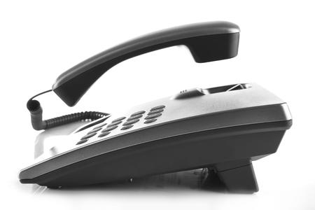Telephone set isolated on white
