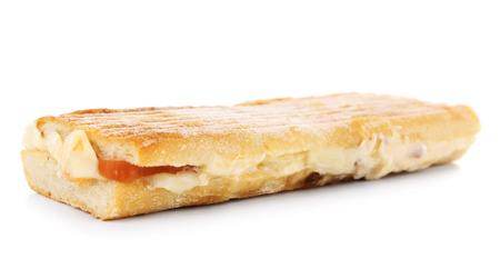Tasty sandwich isolated on white Stock Photo