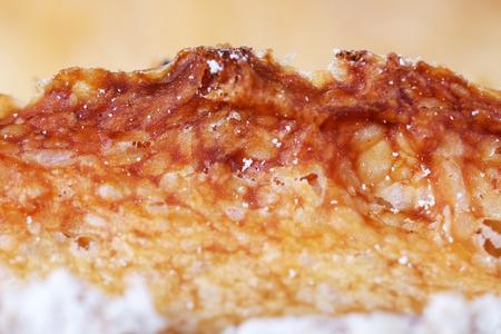 Tasty sweet bun close up Stock Photo