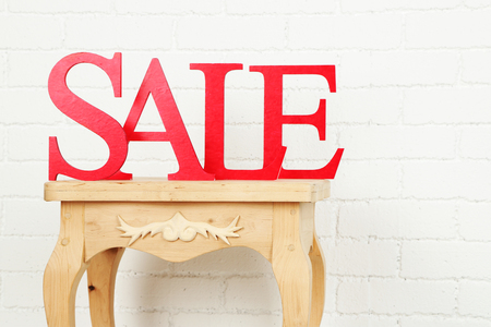 Sale on side table in room