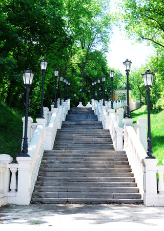 Long staircase on Mykhailo Hill, Kiev