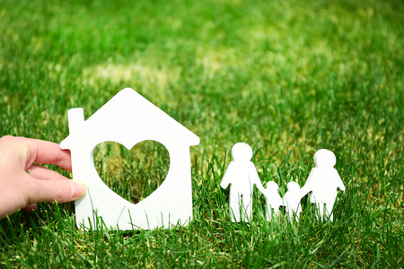 Family and house - concept image of make your house Imagens