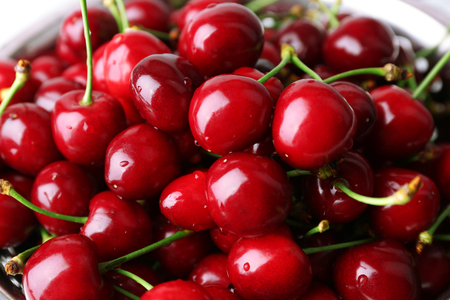Sweet cherries close up Stock Photo