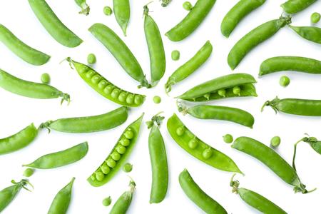 Fresh green peas close up 스톡 콘텐츠