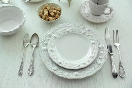 Elegance table setting Фото со стока