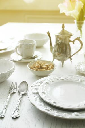Elegance table setting Archivio Fotografico