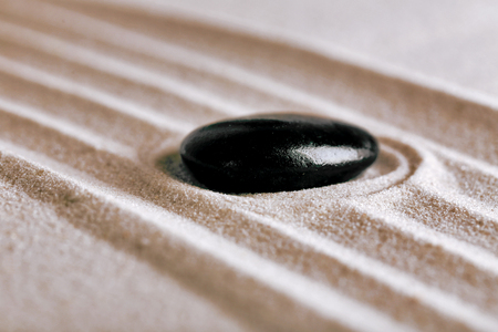 Zen garden with stone for relaxation Banque d'images