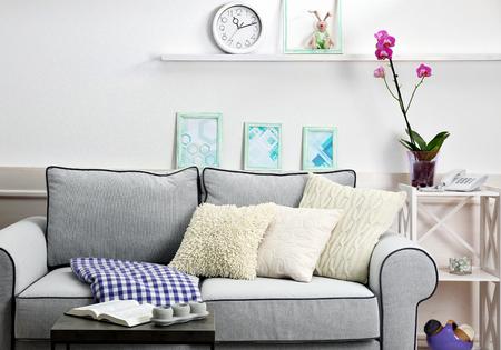 Modern living room interior Stock fotó
