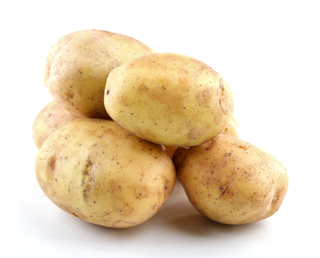 young potatoes isolated on white Stock Photo