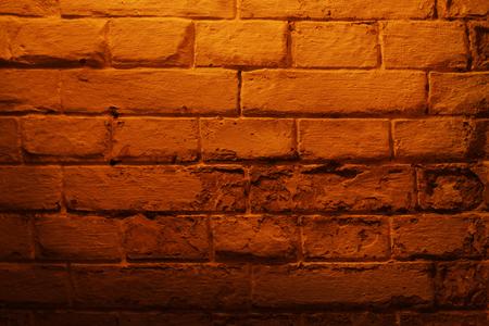 Brick wall of ancient cave Stock Photo