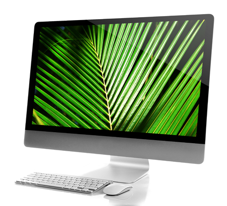 Modern computer isolated on white Banco de Imagens