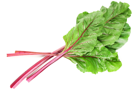 Fresh swiss chard, isolated on white Banque d'images