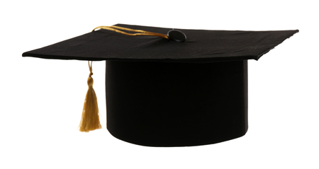 Grad hat isolated on white