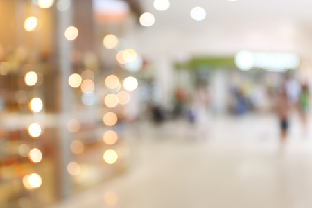 People shopping in store, blurred background Imagens