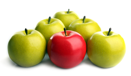 A bunch of apples, unique and individuality concept