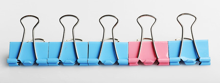 Binder clips, isolated on white