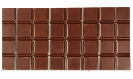 Chocolate bar isolated on white Stock fotó