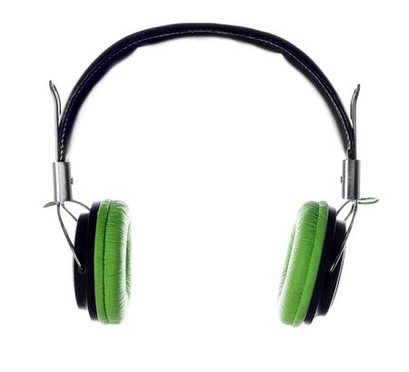 Headphones isolated on white Фото со стока