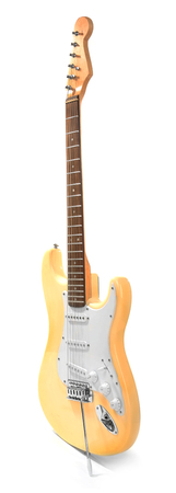 Electric guitar, isolated on white