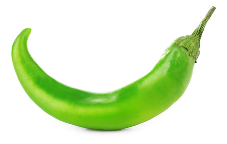 Green chili pepper isolated on white Stock Photo