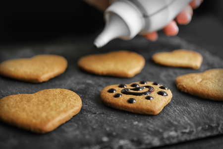 Cookies decorating process 写真素材