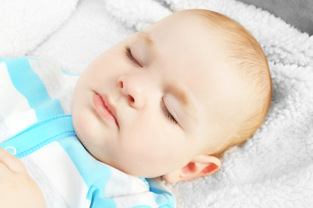 Portrait of sleeping baby, close up