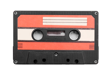 Old audio cassette, isolated on white Standard-Bild