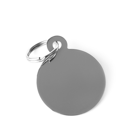 Round pet charm, isolated on white Banque d'images