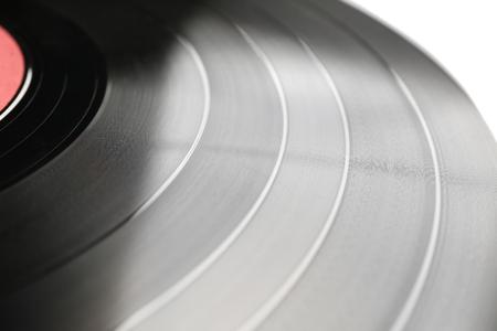 Vinyl record, closeup Imagens