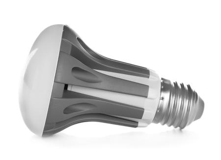 Led light bulb on white background Фото со стока