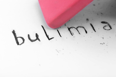 Eraser deleting the word Bulimia