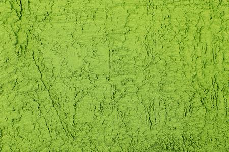 Powdered matcha green tea background, closeup Stock Photo