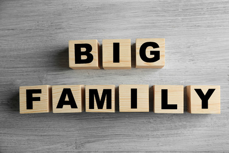 Words BIG FAMILY on light background Imagens