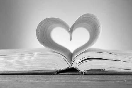 Heart shaped music notes sheets