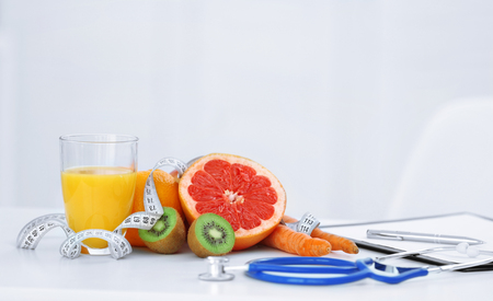 Working place of nutritionist Stock Photo