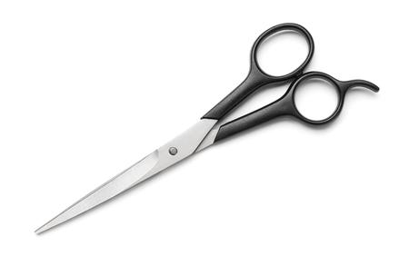 Barber scissors isolated on white