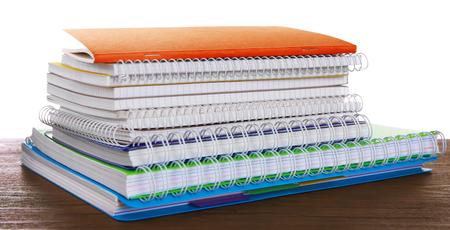 School notebooks, isolated on white 免版税图像
