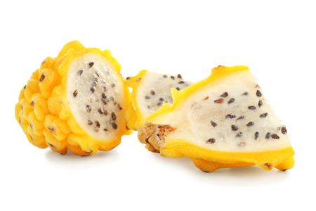 Pitahaya on white background