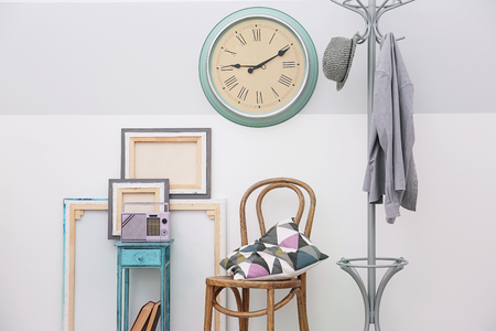 Modern room interior in vintage style Stock Photo