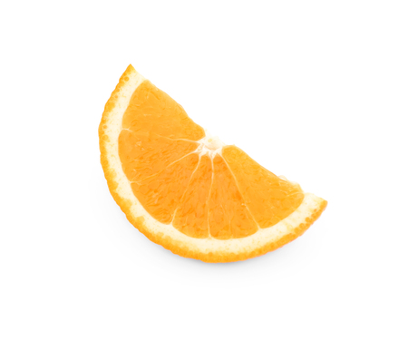 Fresh orange slice, isolated on white 写真素材
