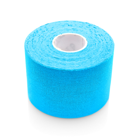 Medical bandage roll isolated on white Stock Photo