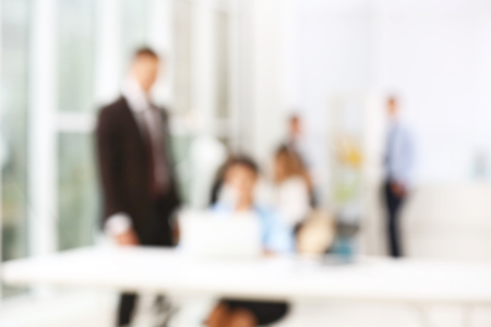 Business people working at office, blurred background