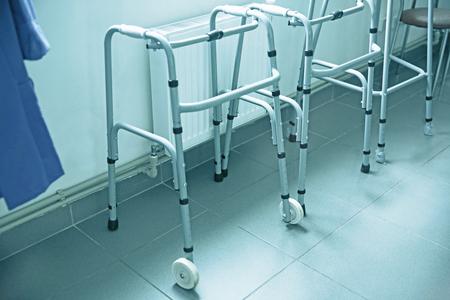 Walker for elderly in drugstore