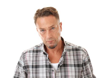 Handsome man on white background, closeup 写真素材 - 109569342