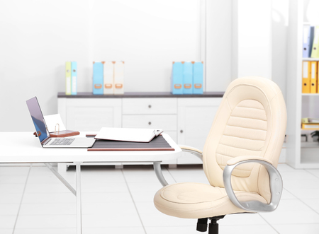 Empty office with executive workplace Stock Photo