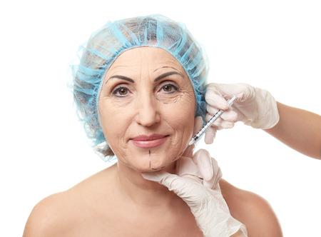 Hyaluronic acid injection for facial rejuvenation procedure Zdjęcie Seryjne