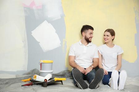 Couple renewing apartment