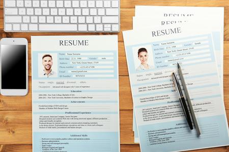 Lugar de trabajo del empleador con currículums