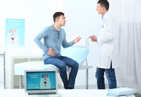 Man visiting doctor at hospital Stock Photo - 109862682