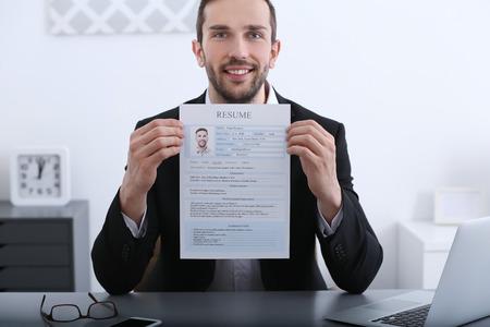 Solicitante de empleo con entrevista